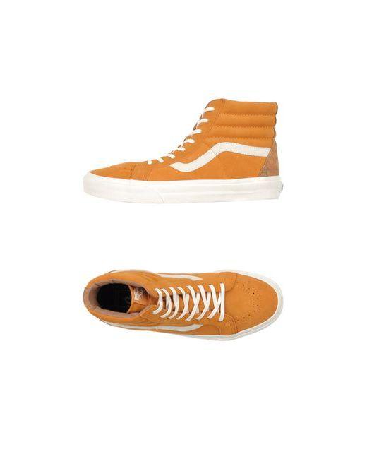 Vans California | Мужские Оранжевые Высокие Кеды И Кроссовки