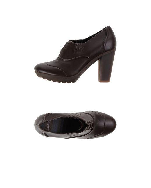 Camper | Женская Коричневая Обувь На Шнурках