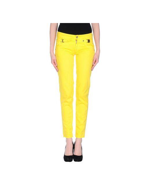 Versace Jeans Couture   Женские Жёлтые Повседневные Брюки