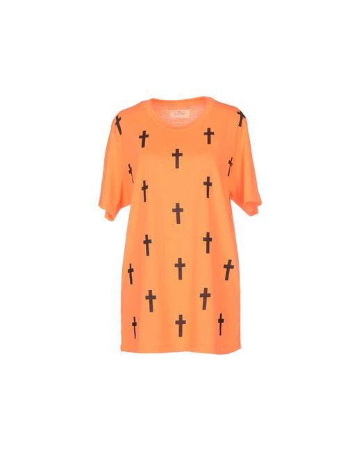 White | Женская Оранжевая Футболка