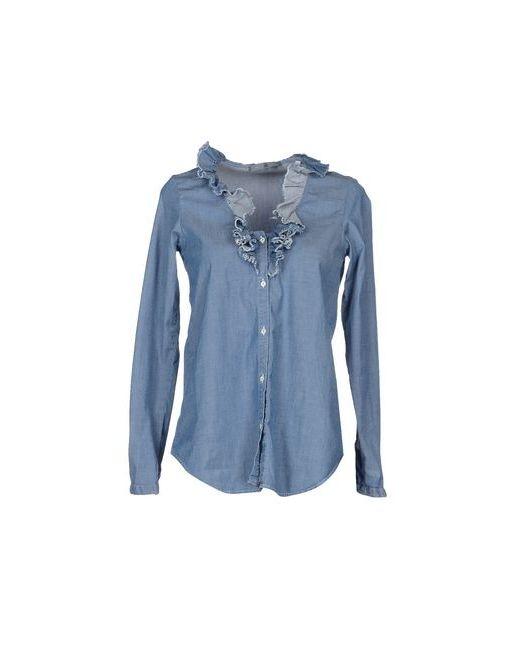 Mu   Женская Синяя Джинсовая Рубашка