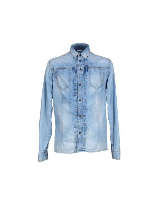 Frankie Morello | Мужская Синяя Джинсовая Рубашка