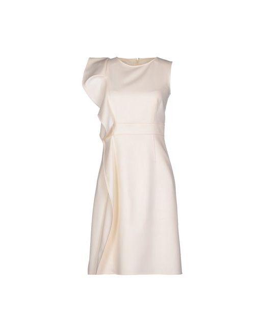 Valentino Techno Couture | Женское Бежевое Короткое Платье