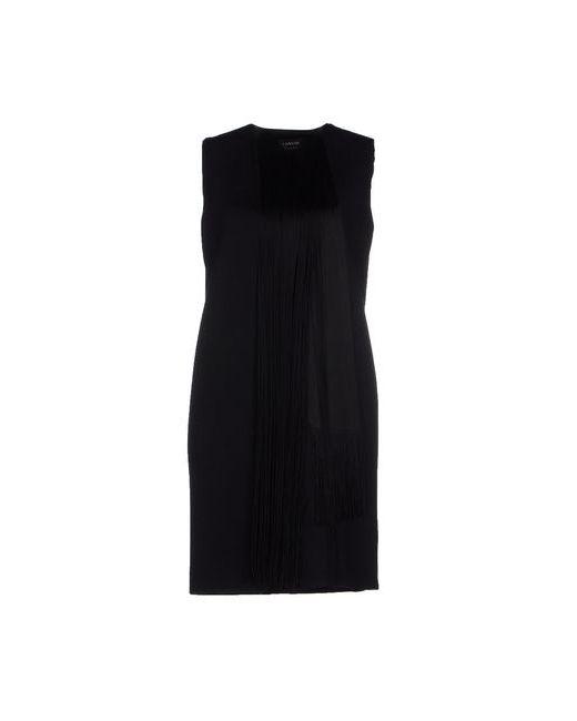 Lanvin | Женское Чёрное Короткое Платье