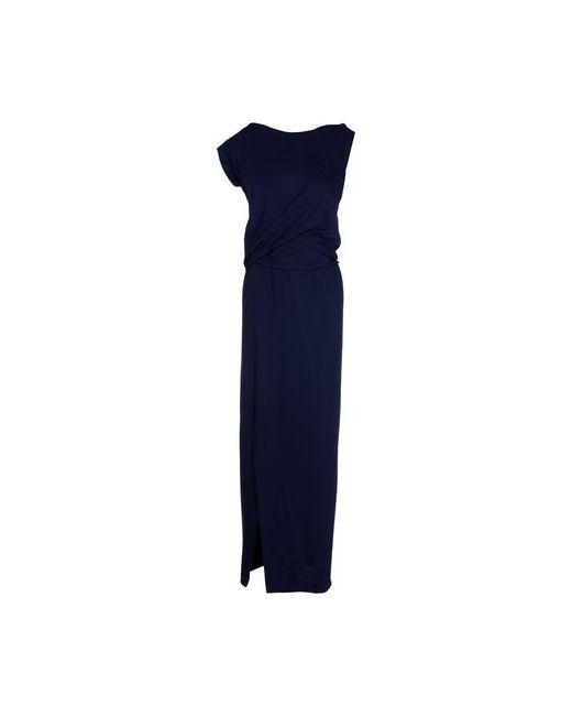 Pinko Black | Женское Синее Длинное Платье