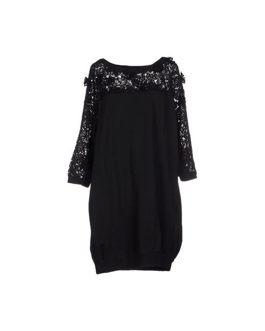 Le Coeur De Twin-Set Simona Barbieri | Женское Чёрное Короткое Платье