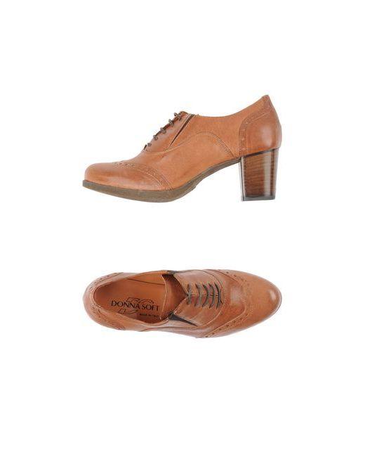 Donna Soft   Женская Коричневая Обувь На Шнурках