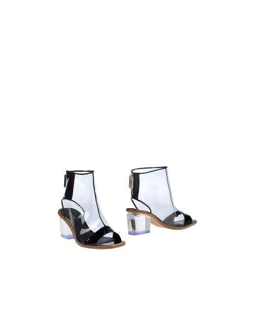 Calvin Klein Collection   Женские Чёрные Полусапоги И Высокие Ботинки