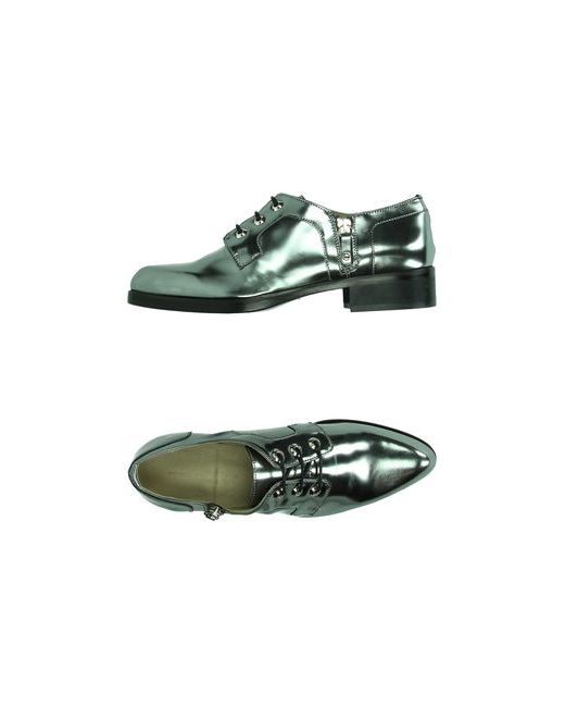 Diesel Black Gold | Женская Серебристая Обувь На Шнурках