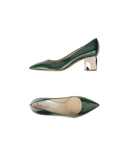 Pollini | Женские Зелёные Туфли