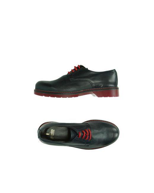 1° GENITO   Мужская Синяя Обувь На Шнурках