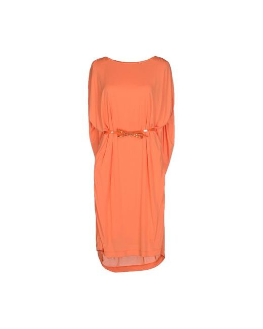 Class Roberto Cavalli   Женское Оранжевое Короткое Платье