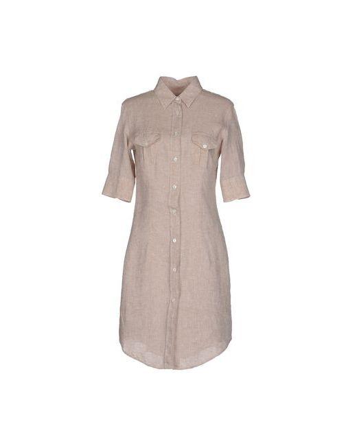 Simon'S | Женское Бежевое Короткое Платье