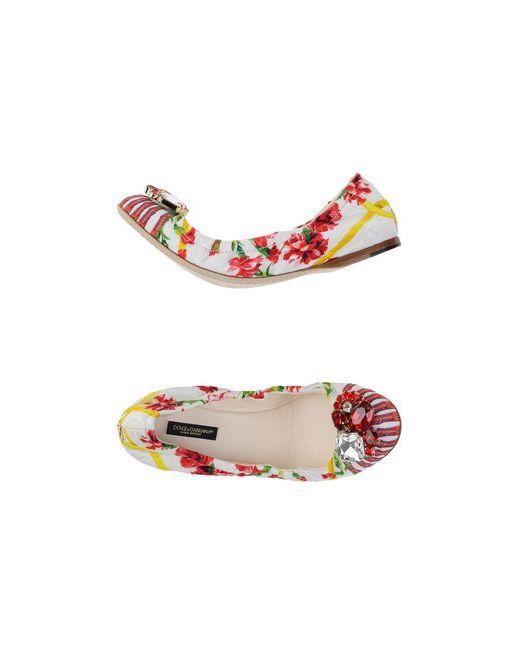 Dolce & Gabbana   Женские Белые Балетки