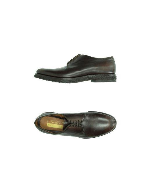 Premiata Endless   Мужская Коричневая Обувь На Шнурках