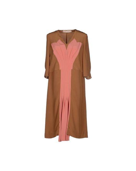 Marni | Женское Верблюжье Платье До Колена