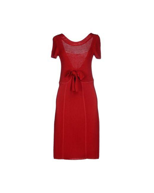 Twin-Set Simona Barbieri | Женское Красное Платье До Колена