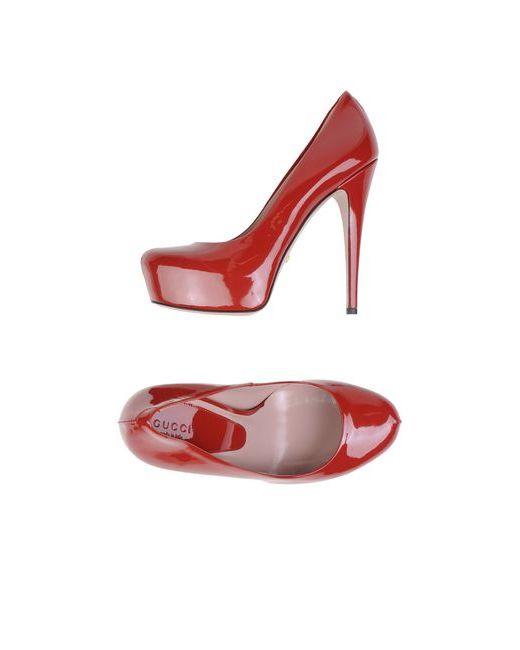 Gucci | Женские Красные Туфли