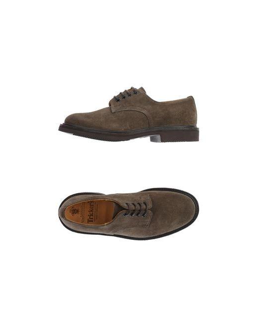 Tricker'S   Мужская Зелёная Обувь На Шнурках