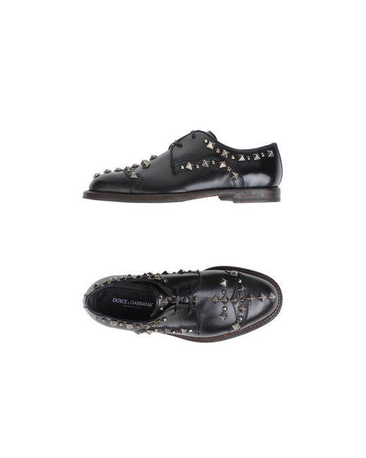 Dolce & Gabbana | Мужская Чёрная Обувь На Шнурках