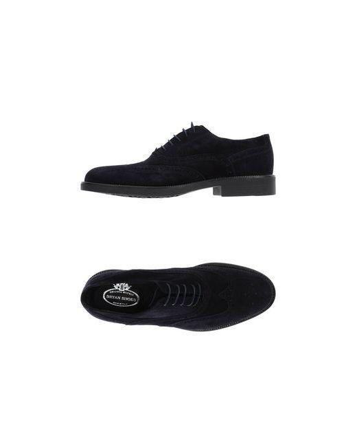 Bryan Shoes   Мужская Синяя Обувь На Шнурках