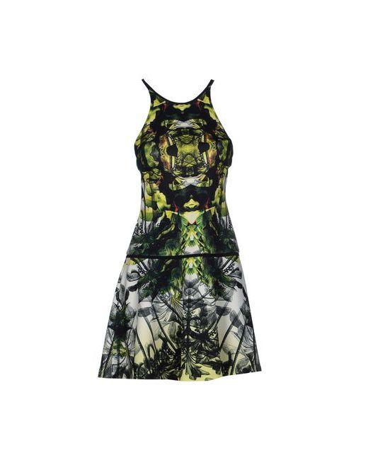 Nicole Miller Artelier | Женское Зелёное Платье До Колена