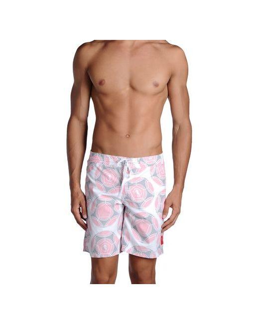 Bikkembergs | Мужские Розовые Шорты Для Плавания