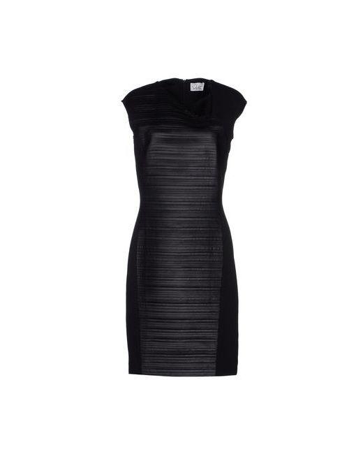 VIOLET ATOS LOMBARDINI | Женское Чёрное Платье До Колена