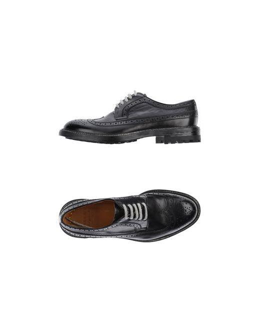 Doucal's   Мужская Чёрная Обувь На Шнурках