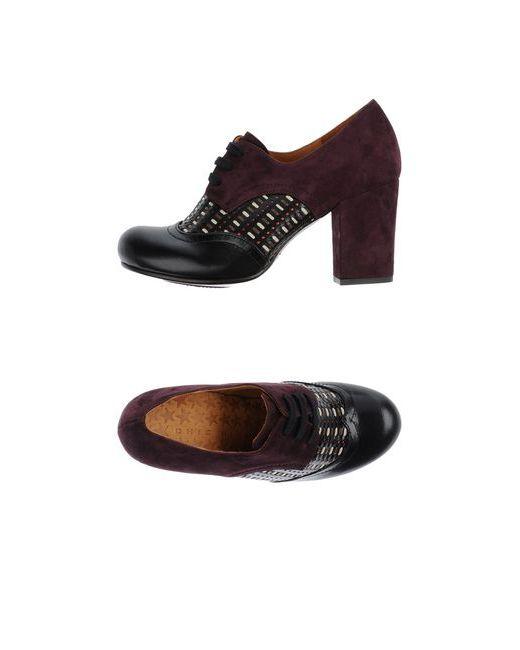 Chie Mihara | Женская Чёрная Обувь На Шнурках