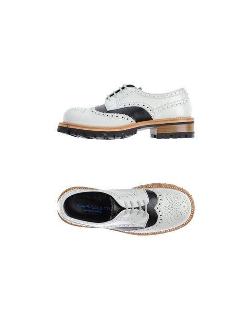 Cappelletti   Женская Белая Обувь На Шнурках