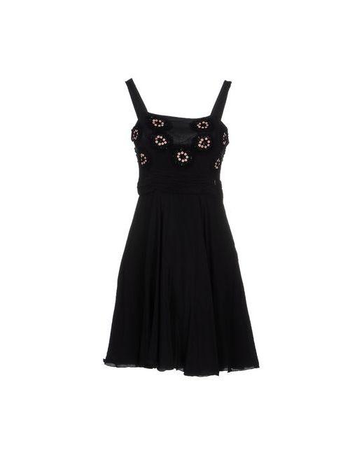 Galliano | Женское Чёрное Короткое Платье
