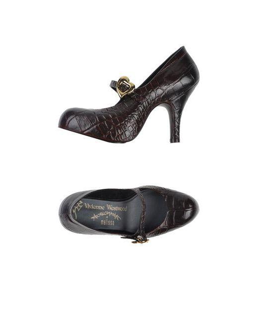 Vivienne Westwood Anglomania + Melissa | Женские Коричневые Туфли