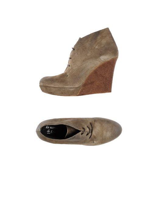 LE SCARPE DI LOU | Женская Серая Обувь На Шнурках