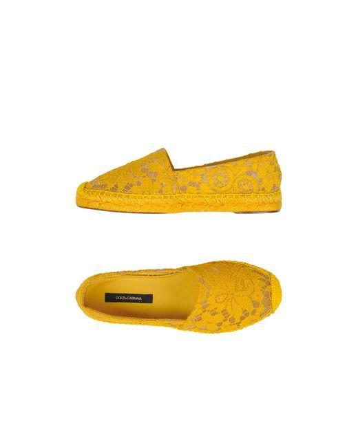 Dolce & Gabbana | Мужские Жёлтые Эспадрильи