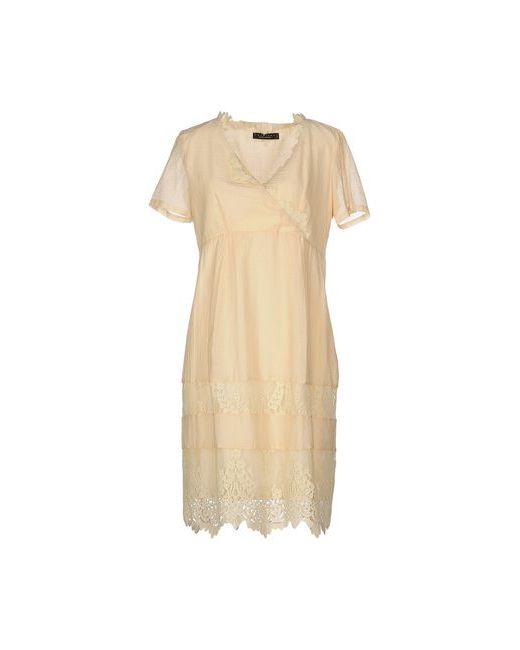 Twin-Set Simona Barbieri | Женское Бежевое Короткое Платье