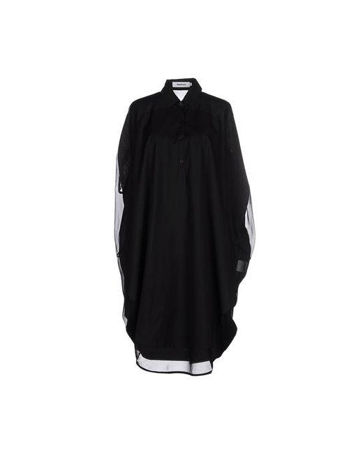 Marios | Женское Чёрное Платье До Колена