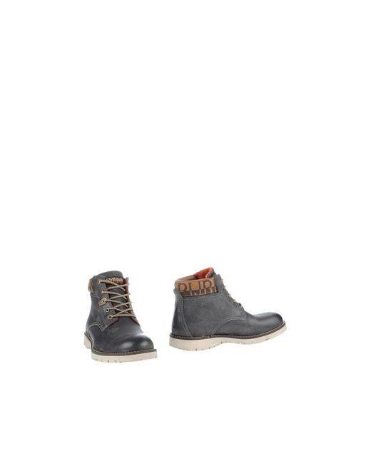 Napapijri | Мужские Серые Полусапоги И Высокие Ботинки