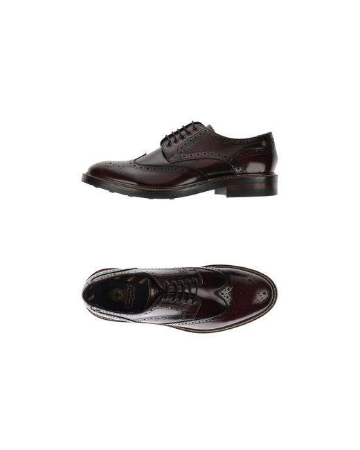 Base London | Мужская Баклажанная Обувь На Шнурках