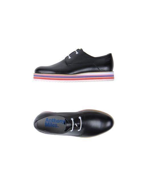 Anthony Miles   Мужская Чёрная Обувь На Шнурках