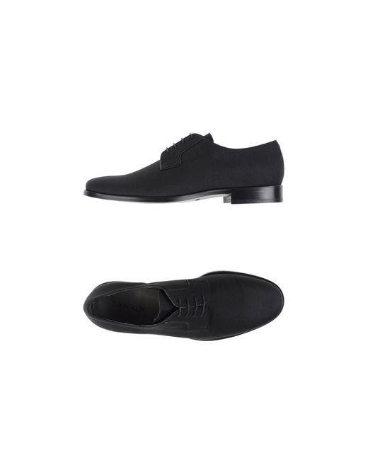 Lanvin   Мужская Чёрная Обувь На Шнурках