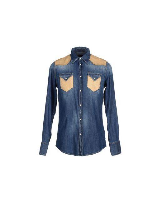 Dsquared2   Мужская Синяя Джинсовая Рубашка