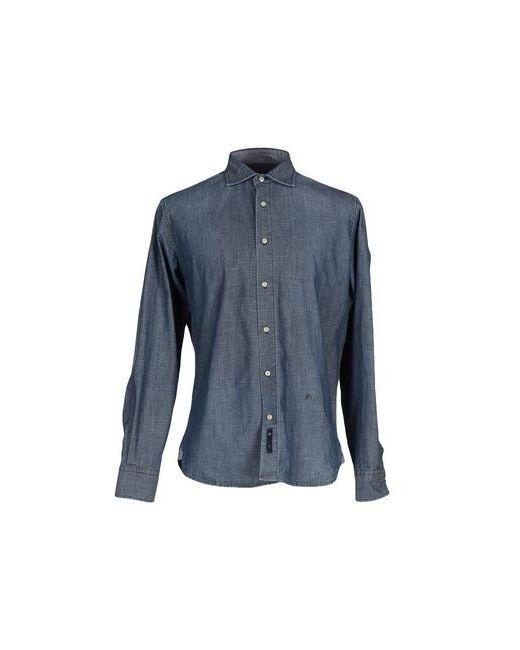 AVIGNON   Мужская Синяя Джинсовая Рубашка