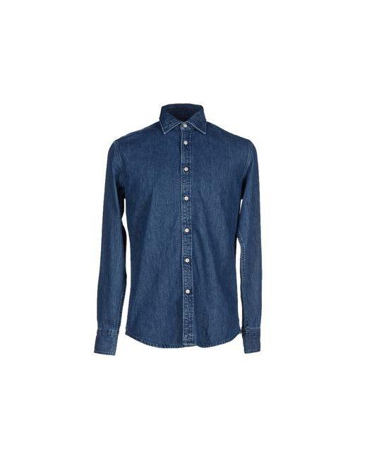 Deperlu   Мужская Синяя Джинсовая Рубашка