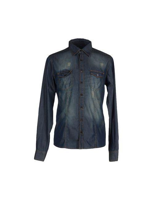 Philipp Plein Homme | Мужская Синяя Джинсовая Рубашка