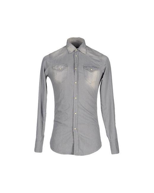 Dsquared2   Мужская Серая Джинсовая Рубашка