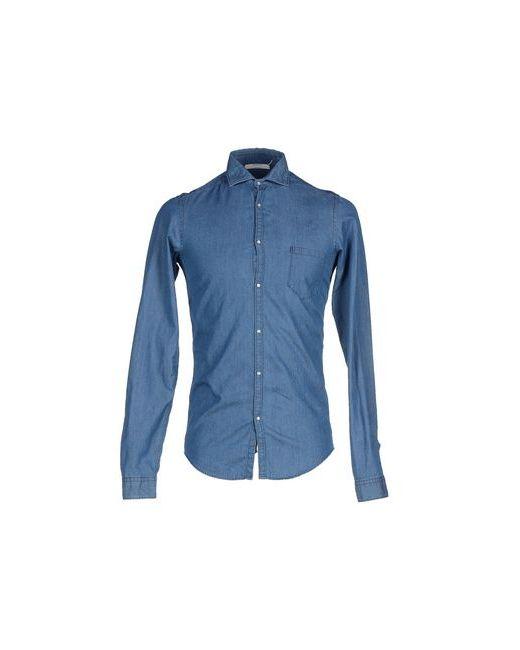 Aglini | Мужская Синяя Джинсовая Рубашка
