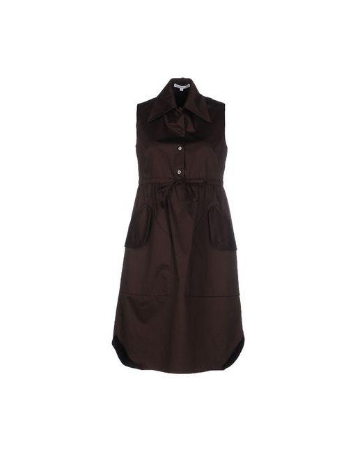 Carven | Женское Коричневое Короткое Платье
