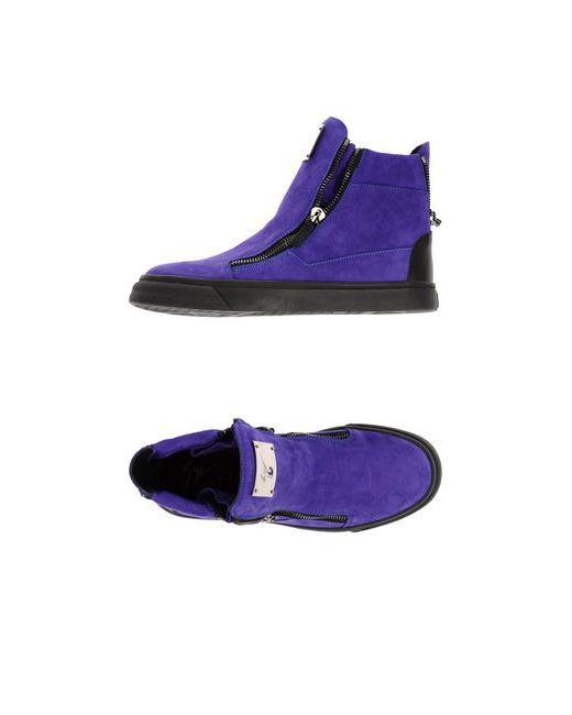 Giuseppe Zanotti Design | Женские Фиолетовые Высокие Кеды И Кроссовки