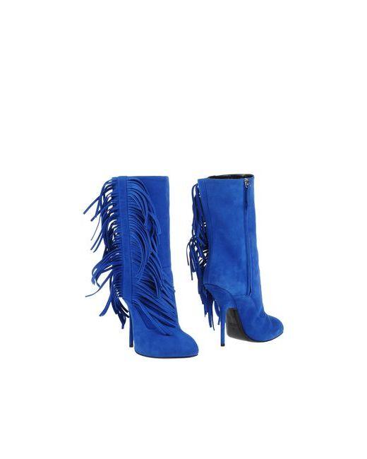 Giuseppe Zanotti Design   Женские Синие Полусапоги И Высокие Ботинки